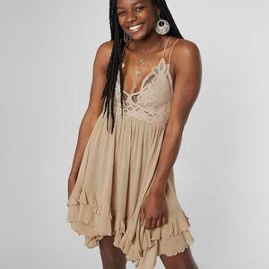 Free People Adella Slip Dress  In Nude, L
